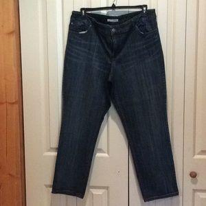 Chico's EUC Striated Jeans Size 3.5 = 18